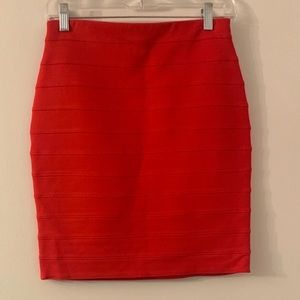 Express NEW Red Banded Skirt